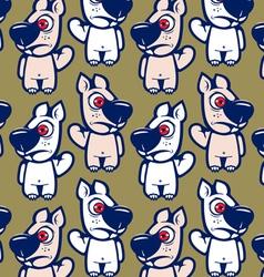 cartoon squirrel character background vector image vector image