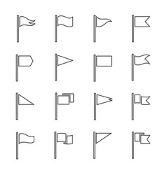 flags and pendant outline set vector image vector image