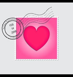 Happy Valentines Day Postage Stamp vector image vector image