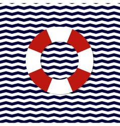 lifebouy symbol on the chevron background vector image