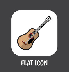 of media symbol on guitar flat vector image