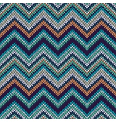 Style Seamless Knitted Pattern Fashion Swatch vector image