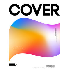 abstract liquid gradient cover design template vector image