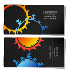 air conditioning system business card vector image
