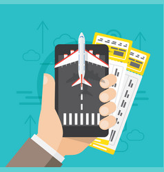airline tickets online buying or booking vector image