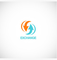 arrow exchange logo vector image