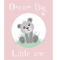 Bear baby girl vector