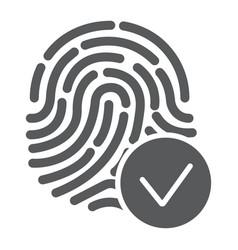 Biometrix glyph icon scanner and biometric vector