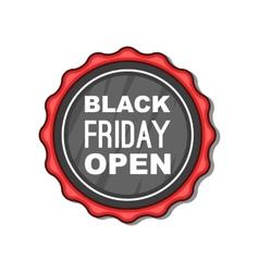 Black Friday sale badge icon cartoon style vector