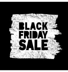 Black Friday Sale hand drawn white grunge stain vector