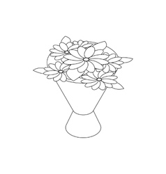 Bouquet icon isometric 3d style vector