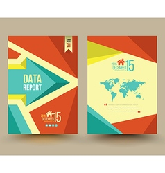 brochure template design Business graphics brochur vector image