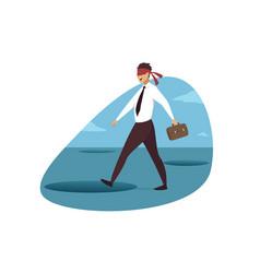 Business crisis danger trap concept vector