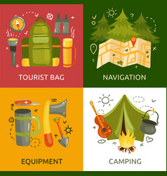 camping 2x2 design concept vector image