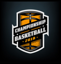 college basketball sports logo emblem vector image