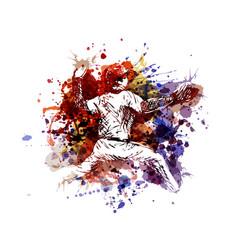 Color a baseball player vector