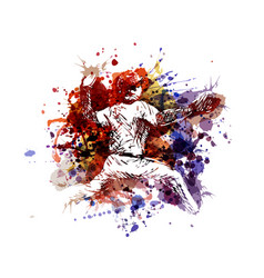 Color of a baseball player vector