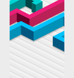 colorful 3d abstract geometry background vector image
