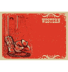 Cowboys lifeWestern background for text vector image