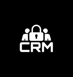 Crm security icon flat design vector