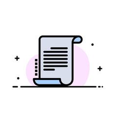 Decree novel scenario screenplay business flat vector