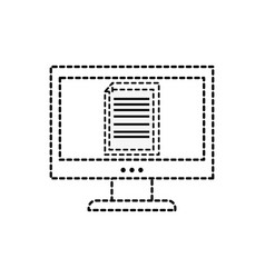 Dotted shape electronic document information vector