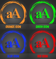 Enlarge font aA icon sign Fashionable modern style vector