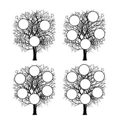 family tree genealogical silhouette vector image