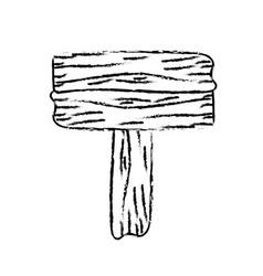 Figure nice retangular wood emblem design vector