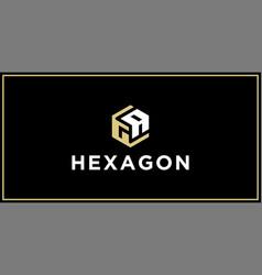 Ga hexagon logo design inspiration vector
