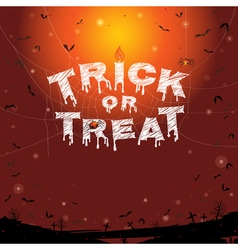 Happy Halloween trick or treat banner background vector image