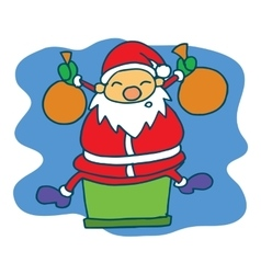 Happy Santa cartoon Christmas theme vector image