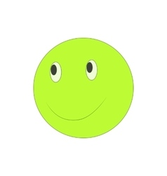 Happy smiley emoticon icon cartoon style vector