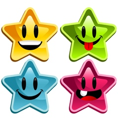 happy smiley stars vector image