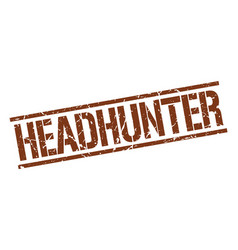 Headhunter stamp vector