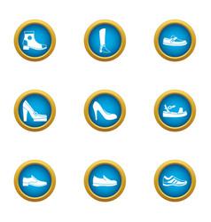 horseshoe icons set flat style vector image