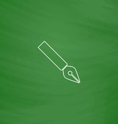 ink pen computer symbol vector image