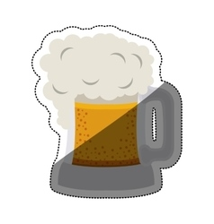 Isolated beer design vector image