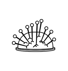 Isolated sewing pins vector image
