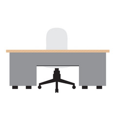Isolated workstation image vector