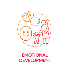 Kids emotional development concept icon vector