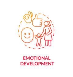 Kids emotional development concept icon vector