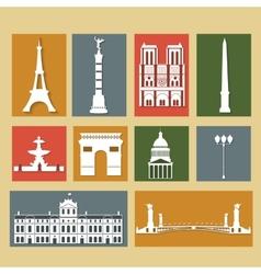 Landmarks of Paris vector image