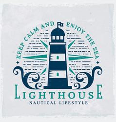 lighthouse emblem vector image