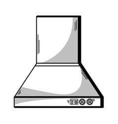 Line technology odor extractor kitchen utensil vector