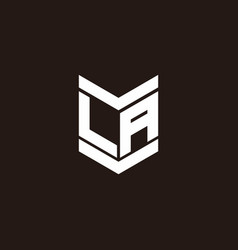 Logo alphabet monogram with emblem style vector