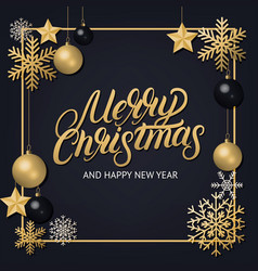merry christmas 2018 hand written lettering vector image