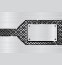 metal brushed background with iron perforated vector image
