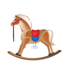 modern colorful children s toys horse rocking vector image