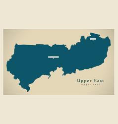 Modern map - upper east region map ghana gh vector